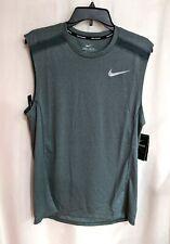 Nike Men's Breathe Pale Green/Silver Reflective Running Tank (Bq5324-328) M & L