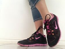 Nike Free 5.0 TR Fit 4 Pink Black Womens Size 9 Shoes 629496-002 ~USED