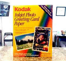 """Kodak 8.5"""" X 11"""" Inkjet Photo Greeting Card Paper 20 Card Envelope Free Shipping"""