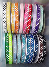 "Polka Dot Grosgrain Ribbon 15mm (1/2"") wide 1m 2m 5m 10m lengths Lots of Colours"