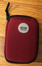 GENUINE CANON EOS MEMORY CARD CASE WALLET HOLDS 6 CF OR SD CARDS PLUS ACCS