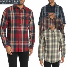 Tailor / Wrangler Mens Reversible Plaid Check Shirt Flannel Heavy Lumberjack New