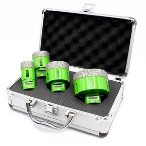4 Pieces M14 Diamond Drill Bit Core Bit Tile Suitcase Set Flex Ø 30 40 50 68mm