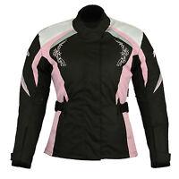 Women Motorcycle Motorbike Scooter Waterproof  Textile Ladies cordura Jacket