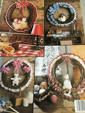 """New listing Leisure Arts """"Crochet-A-Country Wreath"""" - Leaflet - New - 1990"""