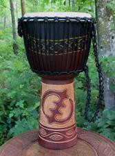 24x11 Gye Nyame Design Djembe Bongo Hand Drum - Blemish Discount