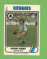1976 SCANLENS  RUGBY LEAGUE CARD  #47  GRAEME HUGHES, CANTERBURY BULLDOGS