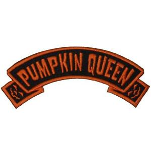 Pumpkin Queen Patch Iron On Horror Goth Punk Creepy Halloween Jack O Lantern