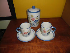 cookie jar cup and saucer set