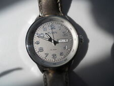 Fossil women's leather band.quartz,battery & Analog dress used watch.Am-4338