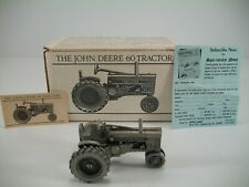Spec Cast John Deere Pewter 60 Tractor JDM-003 - Original Packaging and Papers