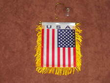 "USA FLAG MINI BANNER 4""x6"" CAR WINDOW MIRROR AMERICAN"