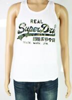 Superdry Mens T-Shirt White Size Small S Tank Top Camo Logo Crewneck $29- 376