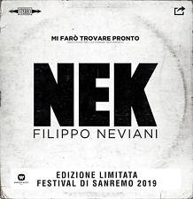 """NEK MI FARO' TROVARE PRONTO VINILE 7"""" COLORATO (SANREMO 2019) NUOVO"""
