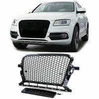 Front grill honeycomb optics without emblem black gloss for Audi Q5 8R 12