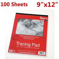 """100Psc Tracing Paper 9""""x12"""" Pad Sheets Quality Translucent Medium Surface New"""