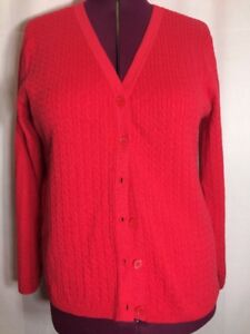 NWOT Westbound XL(L?) Women Cardigan Button Sweater Red Top Shirt  Holiday PB3