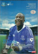 EVERTON V PSV EINDHOVEN 1999/2000 PRE SEASON FRIENDLY MATCHDAY PROGRAMME