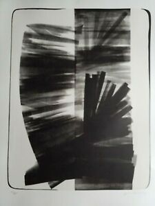 Hans Hartung, Lithograph, Hand Signed, Numbered, Rives, Erker Presse, L-1974-7