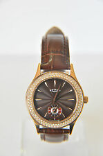 Rotary Ladies Rose Gold Brown Dial Leather Strap Watch LS02907/16RRP £160~AA-131