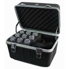 NEW 9 Microphone Carrying Case.Mic Instrument Storage Portable Flight Box.music