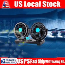 Mini Car Vehicle Cooling Air Fan Speed Adjustable Silent Cooler DC 12V
