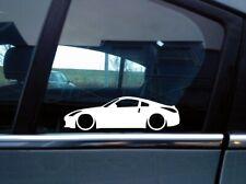 x2 Lowered car silhouette stickers for Nissan 350Z / Fairlady Z   Z33   JDM