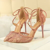 Women Pumps Pointed Toe Slip On Patent Stilettos High Heels Party Dress Shoes