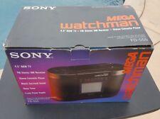 Vintage SONY FD-555 Mega Watchman B&W TELEVISION TV Cassette Player Radio Mint