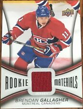 2013-14 Upper Deck Rookie Materials Brendan Gallagher RM-BG Montreal Canadiens