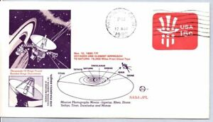 VOYAGER ONE CLOSEST APPROACH TO SATURN 11/12/80 JPL PASADENA JET PROPULSION LAB