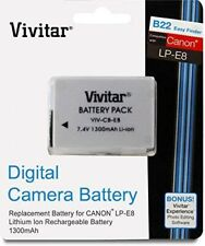 Vivitar Replacement Battery Pack LP-E8 For Canon EOS Rebel T2i T3i T5i