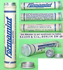 Vintage Wii German Formamint, Medicine Pill Box Brand 'Bauer & Cie' Berlin 1940s