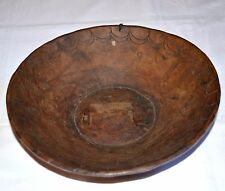 Antique Ethiopian Gurage People African Wooden Plate Wood Bowl Ethiopia, Africa