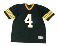 Vtg Logo 7 Green Bay Packers Brett Favre #4 Green Men's Jersey Size Large USA