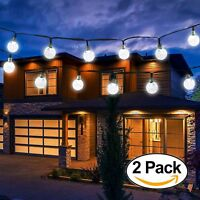 Vivii Solar String Light 20 ft 30 LED Crystal Ball Waterproof String Lights