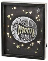 Primitives By Kathy Reverse LED Box Sign -I Love You To The Moon And Back Black