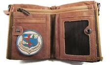 SAC STRATEGIC AIR COMMAND VINTAGE FINISH BROWN GENUINE COWHIDE BIFOLD WALLET