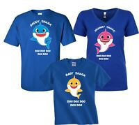 Baby Shark  Mommy Daddy Party Family Shark birthday boy girl T-Shirts
