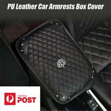 PU Leather Car Armrest Box Pad Crown Rhinestone Style Car Accessory 33*23.5CM