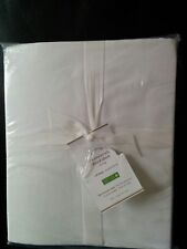Pottery Barn Essentials Cal King Fitted Sheet NWT White 300 Thread Count