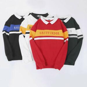 HP Hogwarts School Fleece Sweater Embroidery Warm Uniform Hoodies Tops NEW