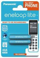 2 x Panasonic Eneloop Lite R03 AAA 550mAh BK-4LCCE/2BE Wiederaufladbar (Blister)