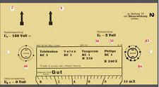 Prüfkarten  Röhrenprüfgerät Max Funke  W 18,W16 ,RPG 4/3 ISBN 978-3-944679-03-7