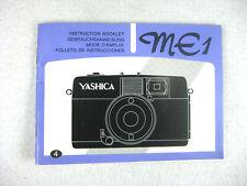 Yashica ME1 Instruction Manual