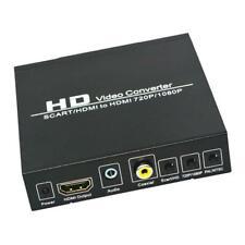 SCART zu HDMI Konverter Upscaler Unterstützung HDMI Anschluss Ausgang Metall