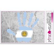 Argentinien - Hand Palm Finger Print Aufkleber Flag Sticker Motiv Argentina