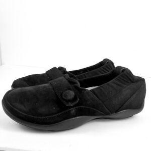 Dansko Carol black suede leather flat Loafer 38
