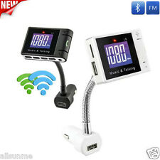 LCD Car Bluetooth MP3 Player SD USB Remote FM Transmitter Modulator For Phone TR