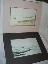 ENGLISH ARTIST COLIN KIRBY GREEN PAIR WATER COLOUR PRINTS